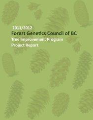 Tree Improvement Program Project Report 2011 / 2012