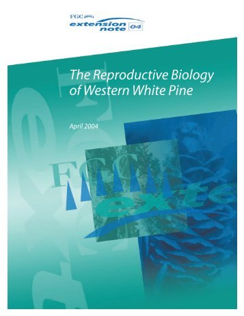 The Reproductive Biology of Western White Pine - Forest Genetics ...
