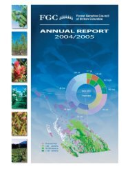 FGC Annual Report 2004 / 2005 - Forest Genetics Council of British ...