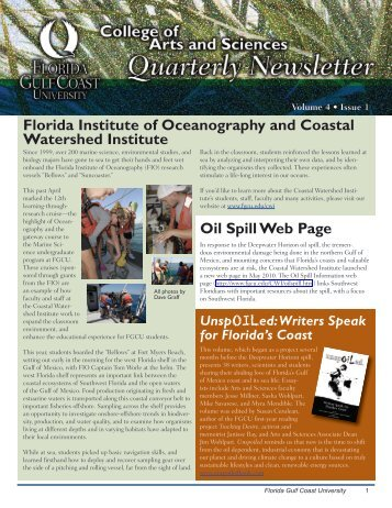 Florida Institute of Oceanography and Coastal Watershed Institute ...