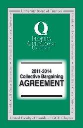Collective Bargaining Agreement - Florida Gulf Coast University