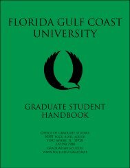 Graduate Student Handbook - Florida Gulf Coast University