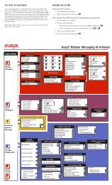 Avaya(tm) Modular Messaging
