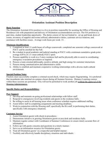 Job Description Research Assistant Position Hours Part