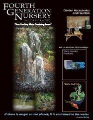 Fountain Catalog - Fourth Generation Nursery