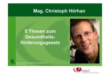 Workshop 1: Präsentation Thesen - Fonds Gesundes Österreich