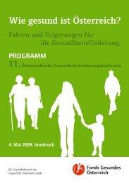 Programm der 11. Österreichischen Gesundheitskonferenz - Fonds ...