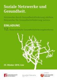 Soziale Netzwerke und Gesundheit. - Fonds Gesundes Österreich