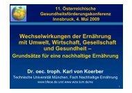 Workshop 3 - von Koerber - Fonds Gesundes Österreich
