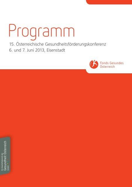 Programm - Fonds Gesundes Österreich