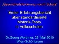 WS 7 Georg Werthner - Fonds Gesundes Österreich