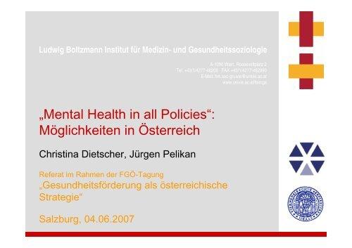 Workshop 3: Präsentation Dietscher - Fonds Gesundes Österreich