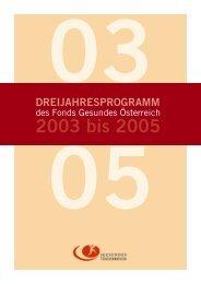 3-Jahresprogramm 2003-2005 - Fonds Gesundes Österreich