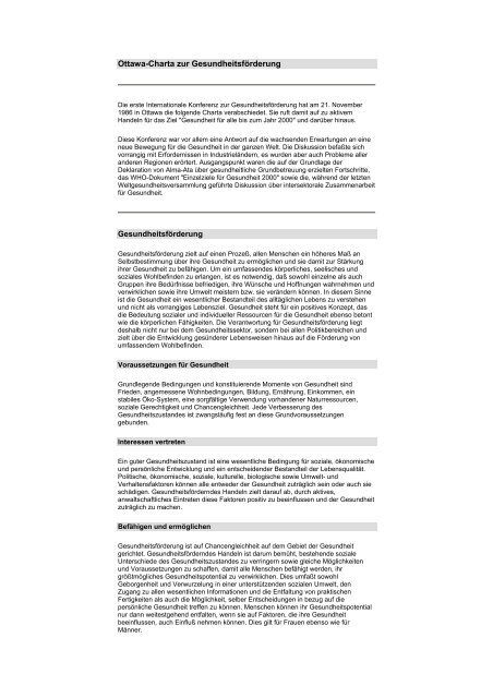 [PDF] Ottawa-Charta zur Gesundheitsförderung