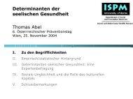 Plenum-Prof.DDr. Thomas Abel - Fonds Gesundes Österreich