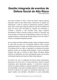 Gestão integrada de eventos de Defesa Social de Alto Risco