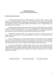 Código de Ética - Fundação Guimarães Rosa
