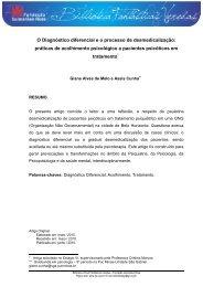 Diagnóstico e desmedicalização - Fundação Guimarães Rosa