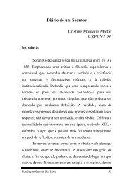 Diário de um Sedutor Cristine Monteiro Mattar CRP 05/2186