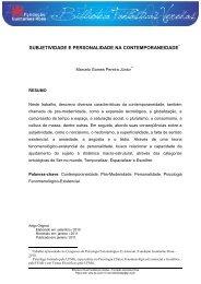 subjetividade e personalidade na contemporaneidade - Fundação ...
