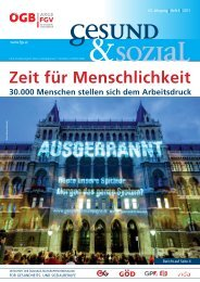 Ausgabe 4/2011 - Arge FGV für Gesundheits- und Sozial Berufe