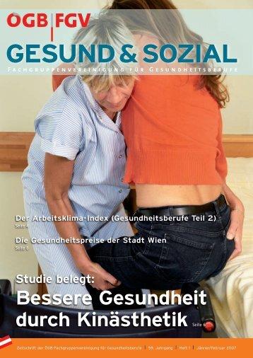 Ausgabe 1/2007 - Arge FGV für Gesundheits- und Sozial Berufe
