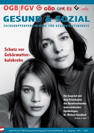 Ausgabe 1/2009 - Arge FGV für Gesundheits- und Sozial Berufe