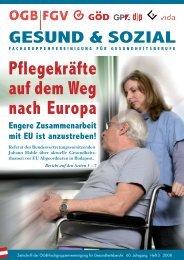Ausgabe 3/2008 - Arge FGV für Gesundheits- und Sozial Berufe
