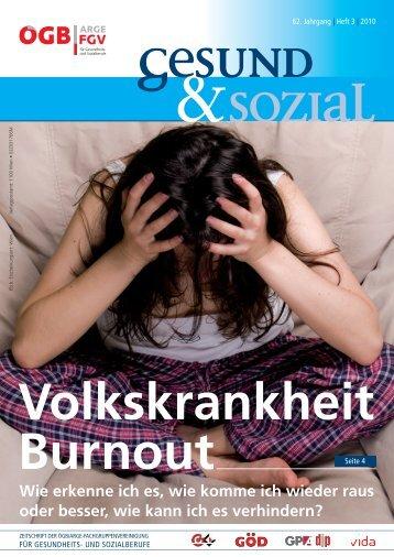 Ausgabe 3/2010 - Arge FGV für Gesundheits- und Sozial Berufe