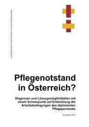 Pflegenotstand in Österreich? - Ludwig Boltzmann Institut für ...