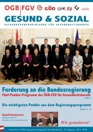 Ausgabe 4/2008 - Arge FGV für Gesundheits- und Sozial Berufe