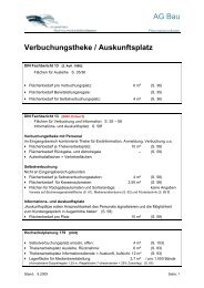 AG Bau Verbuchungstheke / Auskunftsplatz
