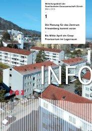 FGZ-Info 1/2013 - Familienheim-Genossenschaft Zürich