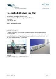 Ausstattungsliste Neu-Ulm
