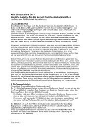 Kein Lernort ohne Ort - Die Bayerischen FachhochschulBibliotheken