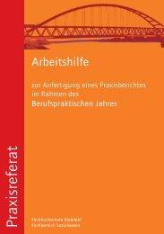 zum Praxisbericht für das BJ - Fachhochschule Bielefeld