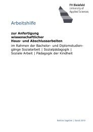 Arbeitshilfe - Fachhochschule Bielefeld