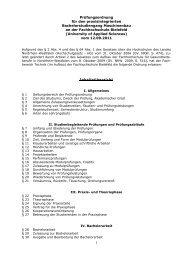 Prüfungsordnung - Fachhochschule Bielefeld