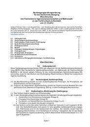SPO Maschinenbau - Fachhochschule Bielefeld