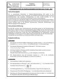Gesteuerte zweipulsige Brückenschaltung B2C - Fachhochschule ...