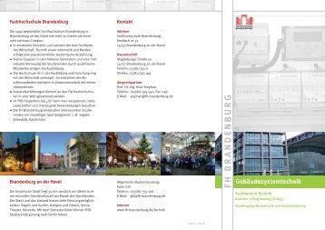 FH BRA N DE NB U R G - Fachhochschule Brandenburg