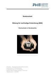 Studienarbeit Bildung für nachhaltige Entwicklung (BNE)
