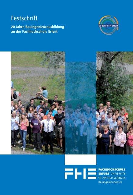 20 Jahre Bauingenieurausbildung an - Fachhochschule Erfurt