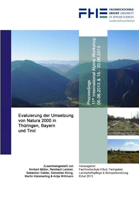 11. Alpine Workshop 2013 - Evaluierung der Umsetzung Natura ...