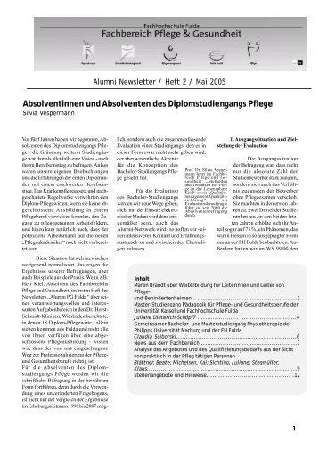 Newsletter Heft 2 - Hochschule Fulda