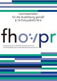 Lernmaterialien § 14 PolLaufbVO M-V - Fh-guestrow.de