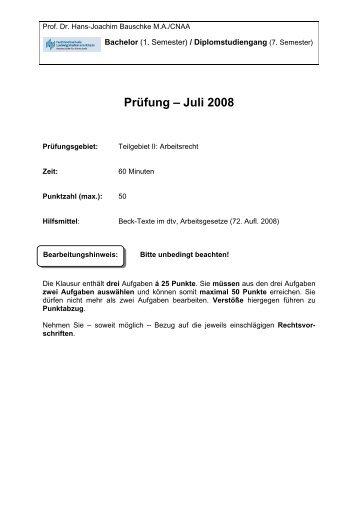 Klausur SoSe 2008