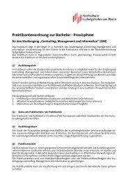 Praktikantenordnung, HS-Vertrag und Antrag auf Genehmigung