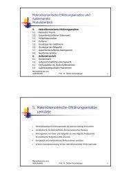 5. Makroökonomische Erklärungsansätze Lernziele