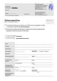 Zulassungsantrag - Hochschule Ludwigshafen am Rhein